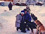 Dog mushing in Alaska.